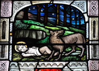 St. Ailbe and the Wolf